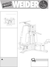 weider home gyms pro 9400 pdf user u0027s manual free download u0026 preview
