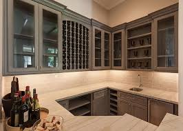 Wet Bar Sink And Cabinets Wet Bar Sink With Stainless Steel Mini Fridge Transitional Kitchen