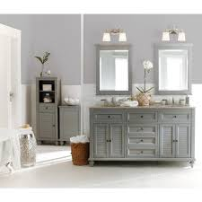 home decorators collection hamilton 61 in double vanity in grey