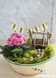mini fairy garden in a tin gift handmade mother u0027s day gift ideas