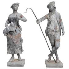 statues for sale shepherd and shepherdess garden statues for sale at 1stdibs