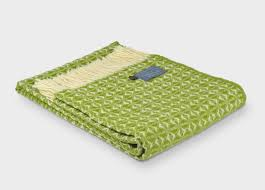 Green Throw Rug Wool Throws And Blankets The British Blanket Company Free Delivery