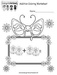 coloring pages free addition coloring worksheet for kindergarten