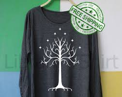 Tree Shirt Tree Of Gondor Shirt Etsy