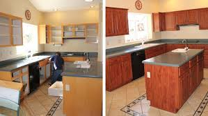 kitchen cabinet refinishing before and after cabinet refacing before and after