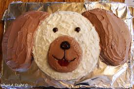 birthday cakes for dogs what a dish puppy dog birthday cake