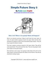 free printable story and worksheets to practice the english past