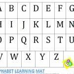 printable alphabet mat homemade preschool game alphabet cookie sheet activity free