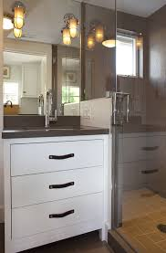Gray Quartz Countertops Design Ideas - Bathroom vanities with quartz countertops