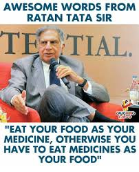 Tata Meme - awesome words from ratan tata sir tez tial laughing eat your food as