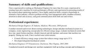Entry Level Mechanical Engineering Resume Mechanical Engineering Resume 1 Mechanical Engineering Resume
