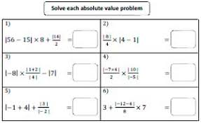 value worksheets