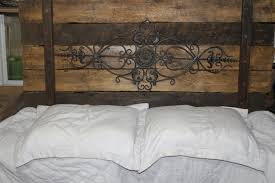 rustic metal headboards designing home queen size bed frame white