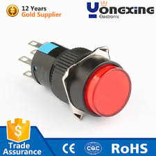 12 volt push button light switch ad16 plastic round single pole 12 volt momentary led push button
