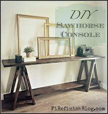 Ana White Sawhorse Desk Ana White Diy Sawhorse Console Table Diy Projects