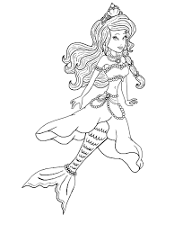 coloring pages barbie mermaid barbie the pearl princess island adventure princess lumina her