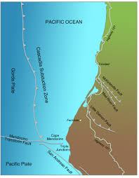 physical map of oregon juan de fuca plate 4 cascadia subduction zone living with earthquakes in the
