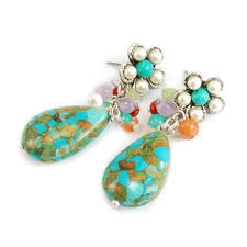 sweet earrings sweet turquoise teardrop cluster earrings free shipping