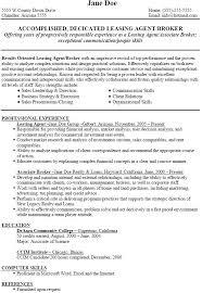 sample resume for leasing consultant financial aid consultant