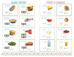 cafe menu for math restaurant menu inside click for document