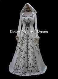 Medieval Wedding Dresses Uk Hooded Medieval Dresses Dawns Medieval Dresses