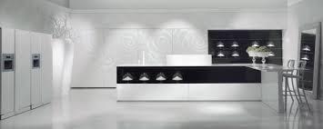 cuisine minimaliste design design interieur cuisine moderne minimaliste îlot noir blanc