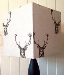 Square Lampshade Country Stag Square Lampshade 30cm