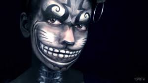 kitty face halloween cheshire cat makeup from alice madness returns american mcgee u0027s