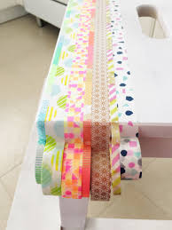 ikea hack colourful step stool with washi tape petit bout de chou