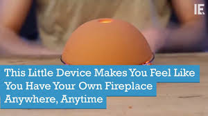 this little device makes you feel like you have your own fireplace
