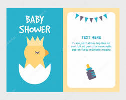 Baby Shower Invitation Cards Templates Baby Shower Invitation Card Template With Cute Little Chicken