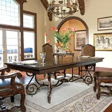 Copper Top Dining Room Tables Dining Table Round Copper Top Dining Table Mounted On Santa Fe