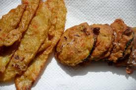 cuisiner la papaye beignets de papaye verte et courgette à la farine de pois chiches