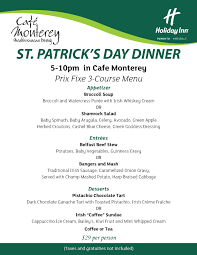 5 course menu template st s day toronto dinner menu inn