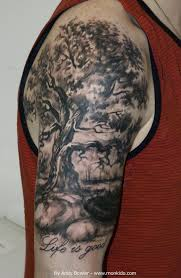 collection of 25 half sleeve tree image