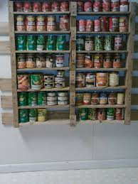 Shelves From Pallets by My Second Pallet Project Canned Food Storage Shelves You Will