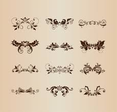 vintage wedding ornaments vector free vector 15 324 free