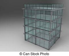stock illustration of sketch of office building 3d sketch of