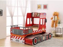 chambre pompier lit gigogne sapeur 2x90x190cm mdf avec ou sans matelas