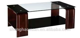 Coffee Table Glass Top Selling Home Furniture Center Tables Design Solid Wood Coffee