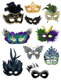mardi gras masks elaborate colorful disguise feathered sequined mardi gras