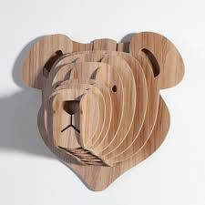 wooden animal wall teddy the wall decoration wood animal for home