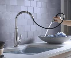 pull kitchen faucet reviews kohler k 780 vs cruette pull kitchen faucet vibrant
