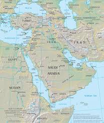 Map Middle East by Middle East Physical Map Middle East U2022 Mappery