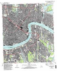 Garden District New Orleans Map by New Orleans East Topographic Map La Usgs Topo Quad 29090h1