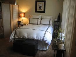 college bedroom decorating ideas dark brown wooden bed frame blue