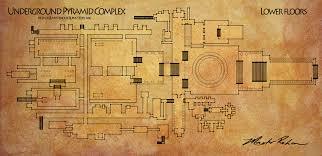 floor plan of underground pyramid complex by masterrohan on deviantart