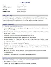 download sample hr business partner job description template for