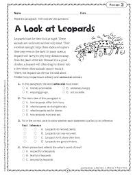 comprehension worksheets grade 4 free worksheets library
