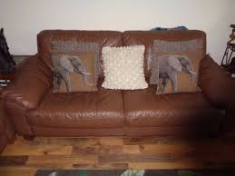 Leather Sofa Suite Deals Black Friday Deal 3 Piece Brown Leather Sofa Suite In